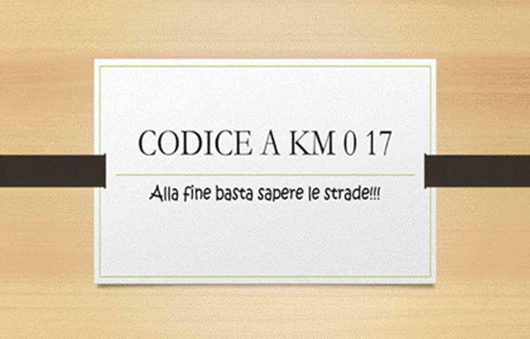 Codice a km 017